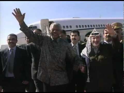 """بالفيديو  ..  عندما زار """"نيلسون مانديلا""""  ..  غزة"""