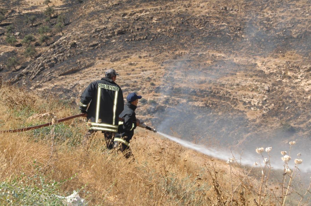 بالصور  ..  الدفاع المدني يتعامل مع  3598 حالة اسعافيه و 320 حريق أعشاب جافة و أشجار