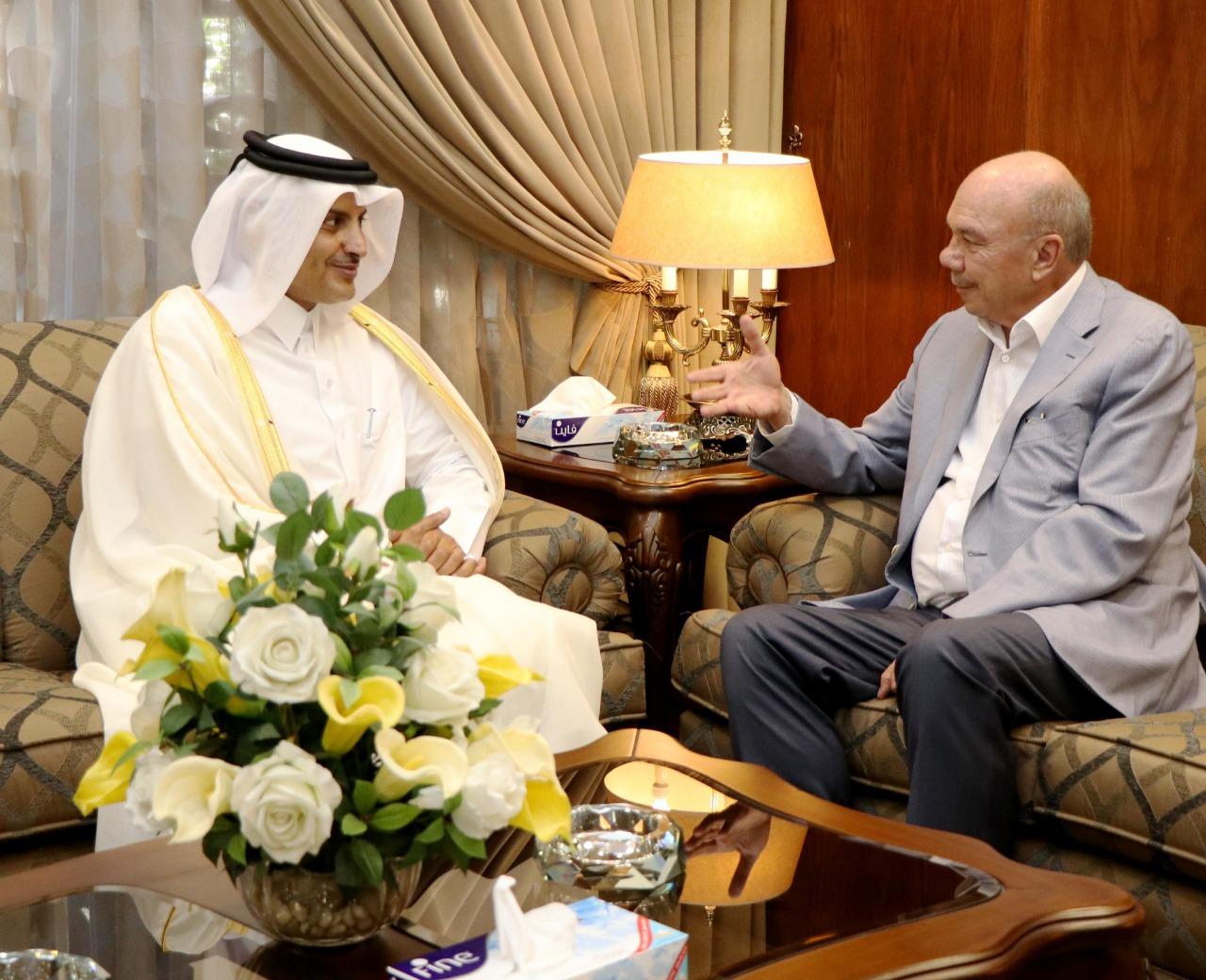 رئيس مجلس الاعيان يستقبل السفير القطري لدى المملكة