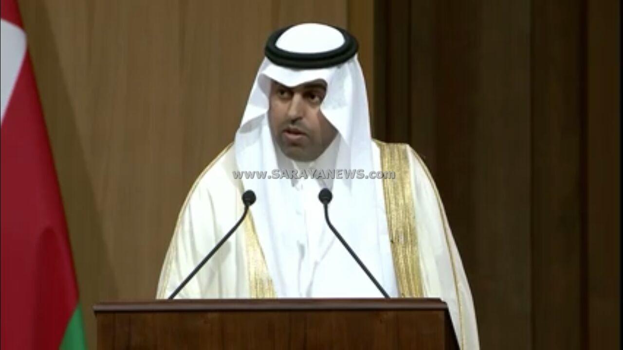 رئيس البرلمان العربي يهاجم ايران ويؤكد : القضية الفلسطينية هي قضية العرب المحورية