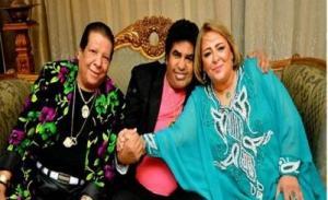 زوجة أحمد عدوية تظهر للمرة الأولى في عيد ميلاده السبعين