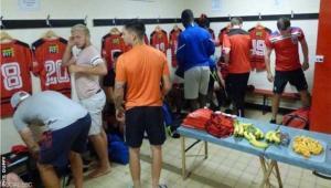 إقصاء فريق إنجليزي بسبب غرفة الملابس