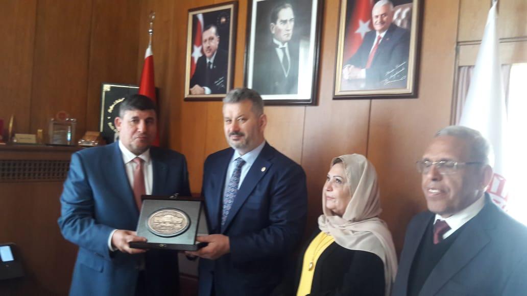 لجنة فلسطين برئاسة السعود تلتقي حسن توران رئيس لجنة فلسطين في البرلمان التركي