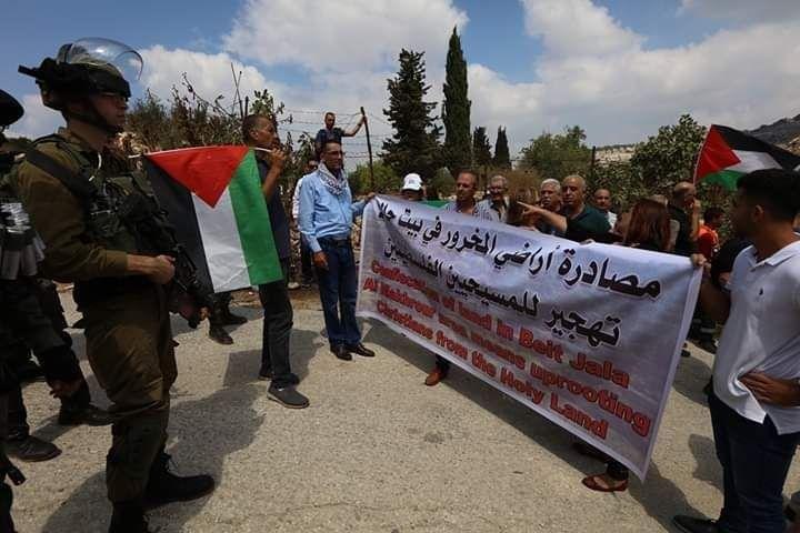 مسيرة في بيت جالا للفصائل الفلسطينية احتجاجا على المشاريع الاستيطانية للاحتلال