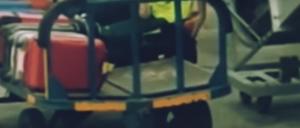 """بالفيديو ..   القبض على عامل أمتعة يسرق حقيبة في المطار  ..  """"تفاصيل"""""""