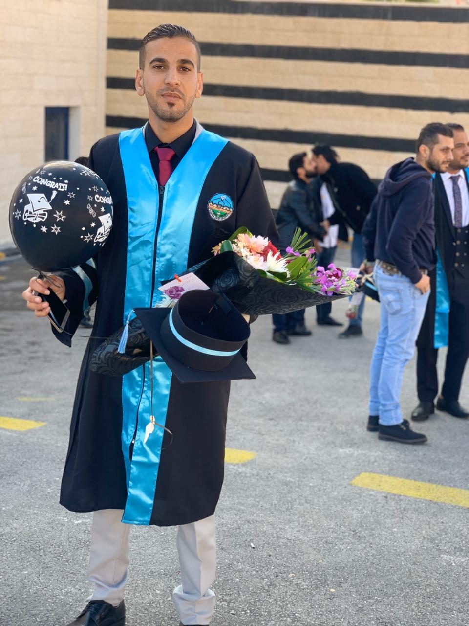 غالب عليمات .. مبارك التخرج