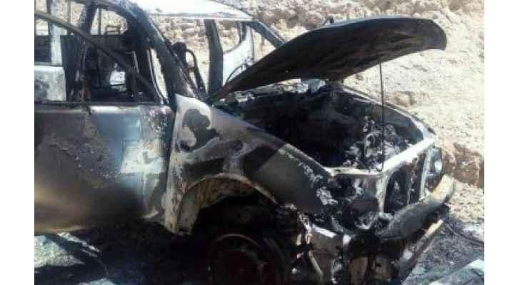 القبض على سارقي مركبة تابعة لوزارة الزراعة بعد حرقها