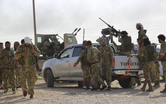 الجيش التركي  يسيطر على أجزاء من مدينة تل أبيض السورية