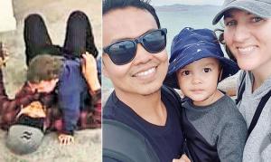 بالصور  ..  هكذا حمى هذا الأب ابنهُ الرضيع من رصاصات السّفاح الأسترالي داخل المسجد في نيوزيلندا