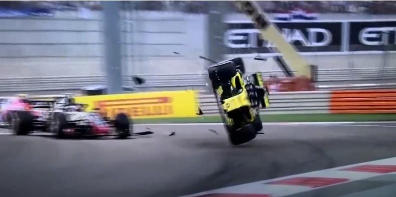 بالفيديو ..  حادث مروع في سباق أبوظبي