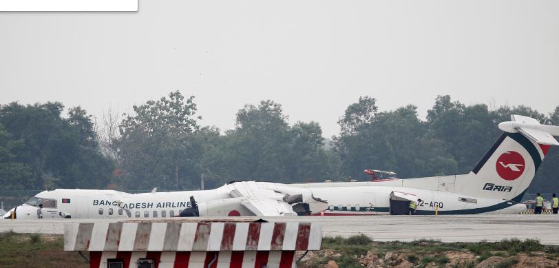 طيار يقوم بعمل بطولي ويهبط بطائرة دون عجلات أمامية