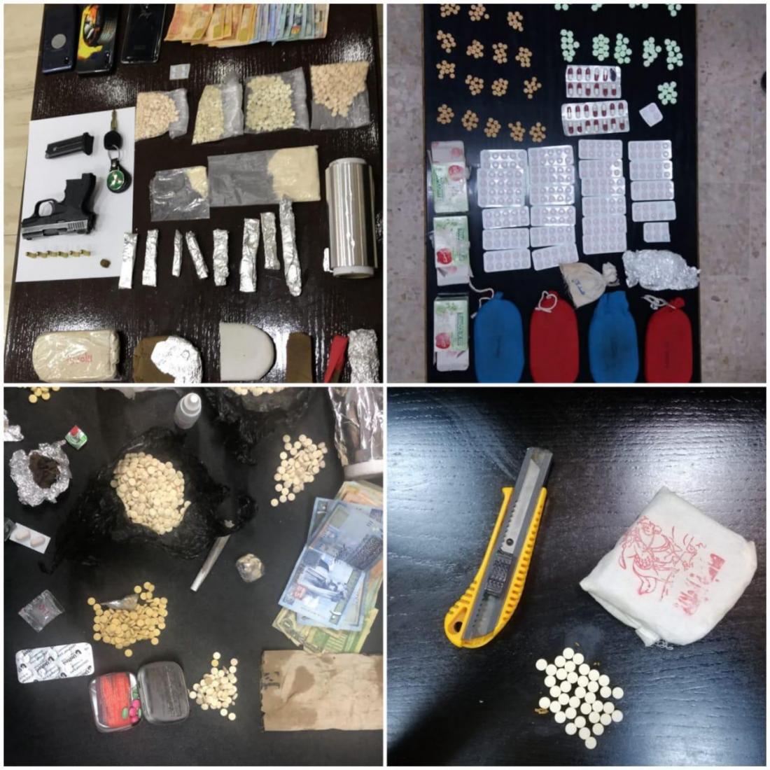, بالصور ..  القبض على (16) شخصاً بحوزتهم مخدرات واسلحة نارية