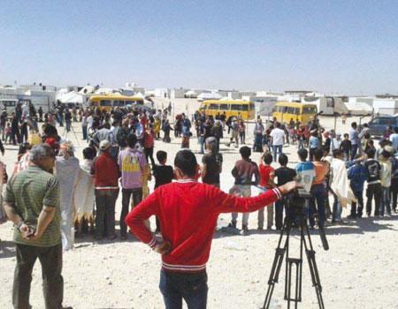 110 أطفال في (الزعتري) يقدمون عرضاً مسرحياً