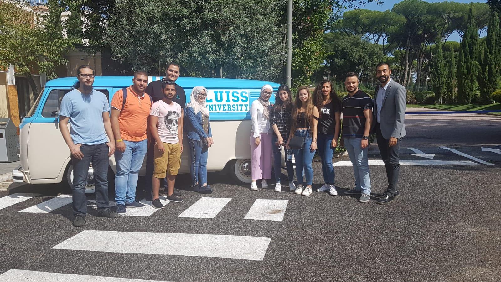 جامعة لويس الإيطالية تستقبل دفعة التبادل الثقافي الأولى من طلبة جامعة البترا