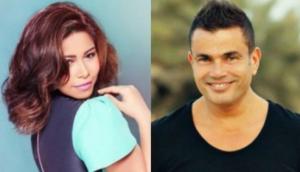 بالفيديو.. شيرين تصالح عمرو دياب بأغنية على الهواء