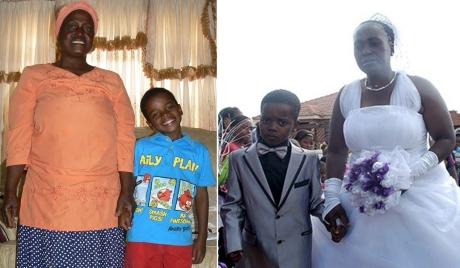حياة الزوج البالغ 8 من عمره مع امرأته العجوز الستينية بالتفاصيل (صور)