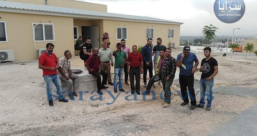 الأغوار الشمالية : وقفة احتجاجية أمام مشروع جر مياه وادي العرب ..  صورة