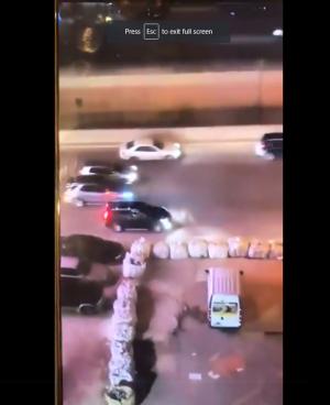 فيديو صادم لعمليات إطلاق نار صريحة على أوتوستراد في بيروت