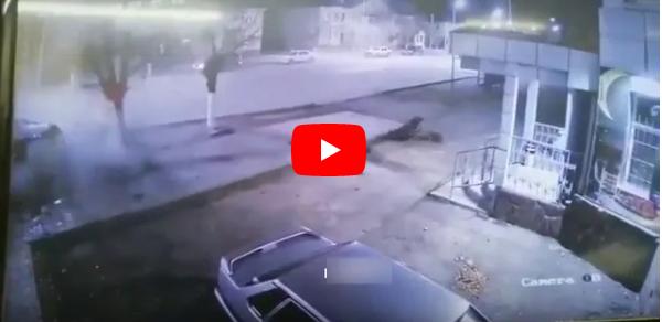 بالفيديو سائق مخمور يفقد السيطرة على سيارته و يرتطم بالشجرة