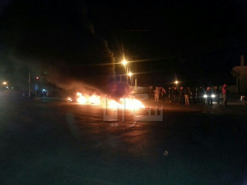 """بالصور.. إربد : إحتجاجات في """"ابدر"""" للمطالبة بالافراج عن الدقامسة"""