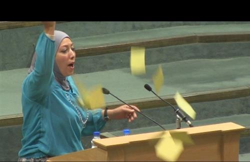 فصل النائب ردينة العطي من حزب البعث على خلفية تصويتها بالسماح لاسرائيل للدخول في صندوق الاستثمار