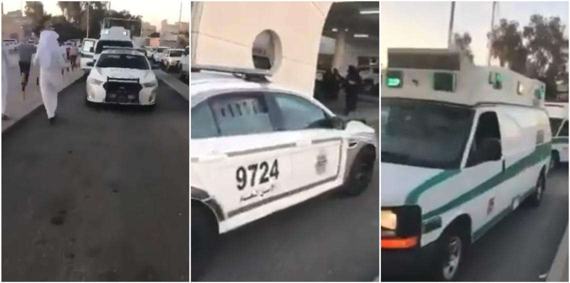 حبس رجلي أمن  أغلقا الطريق أمام سيارات إسعاف  ..  تفاصيل
