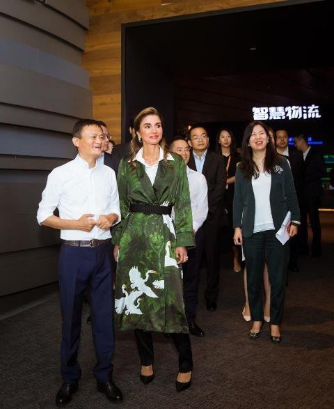 الملكة رانيا في زيارة قصيرة الى الصين لبحث التعاون مع مؤسسة (جاك ما)