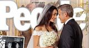 صور.. فستان زفاف عروسة جورج كلوني