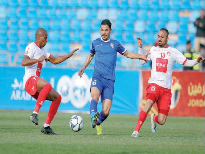 الجزيرة يفوز على الحسين إربد ويتأهل لنصف نهائي الدرع