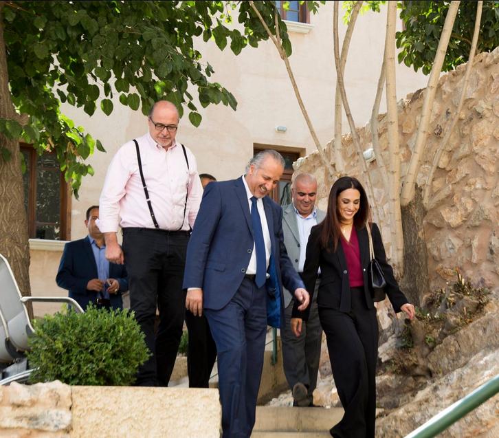 الأميرة رحمة بنت الحسن تزور كلية العمارة بالجامعة الألمانية الأردنية في جبل عمان
