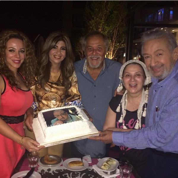 بوسي تحتفل بشفاء نور الشريف في حضور محمود عبدالعزيز.. صور