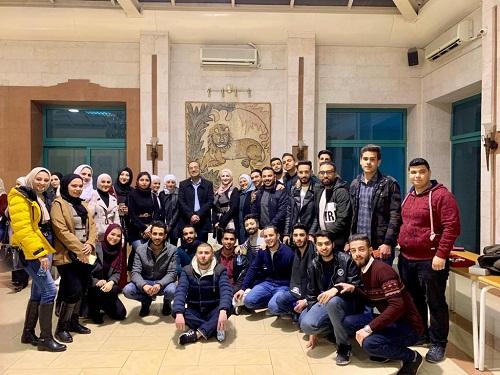جامعة الزيتونة الأردنية تنظم زيارة علمية إلى بورصة عمان