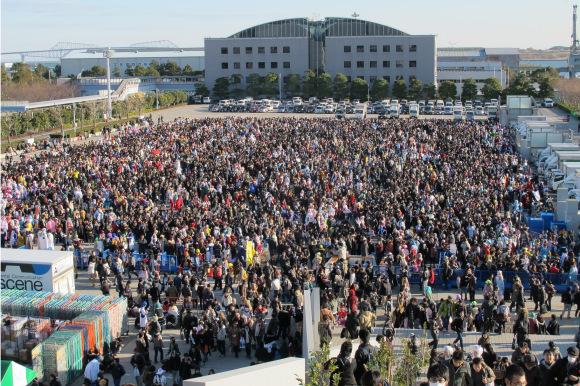 بالفيديو  ..  شاهد كيف ينظم نصف مليون شخص أنفسهم في اليابان !!