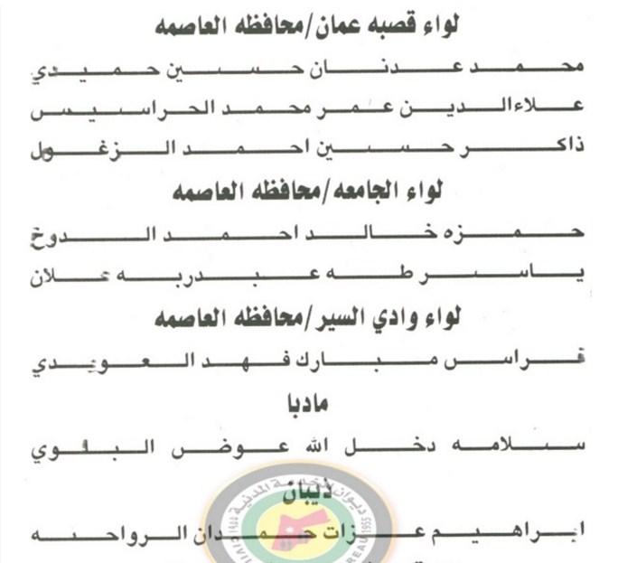 تعيينات في وزارة التربية  ..  اسماء