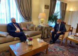 الحباشنة يلتقي أبو الغيط في القاهرة