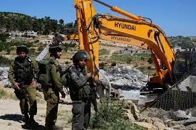 قوات الاحتلال تهدم 3 منشآت زراعية جنوب نابلس