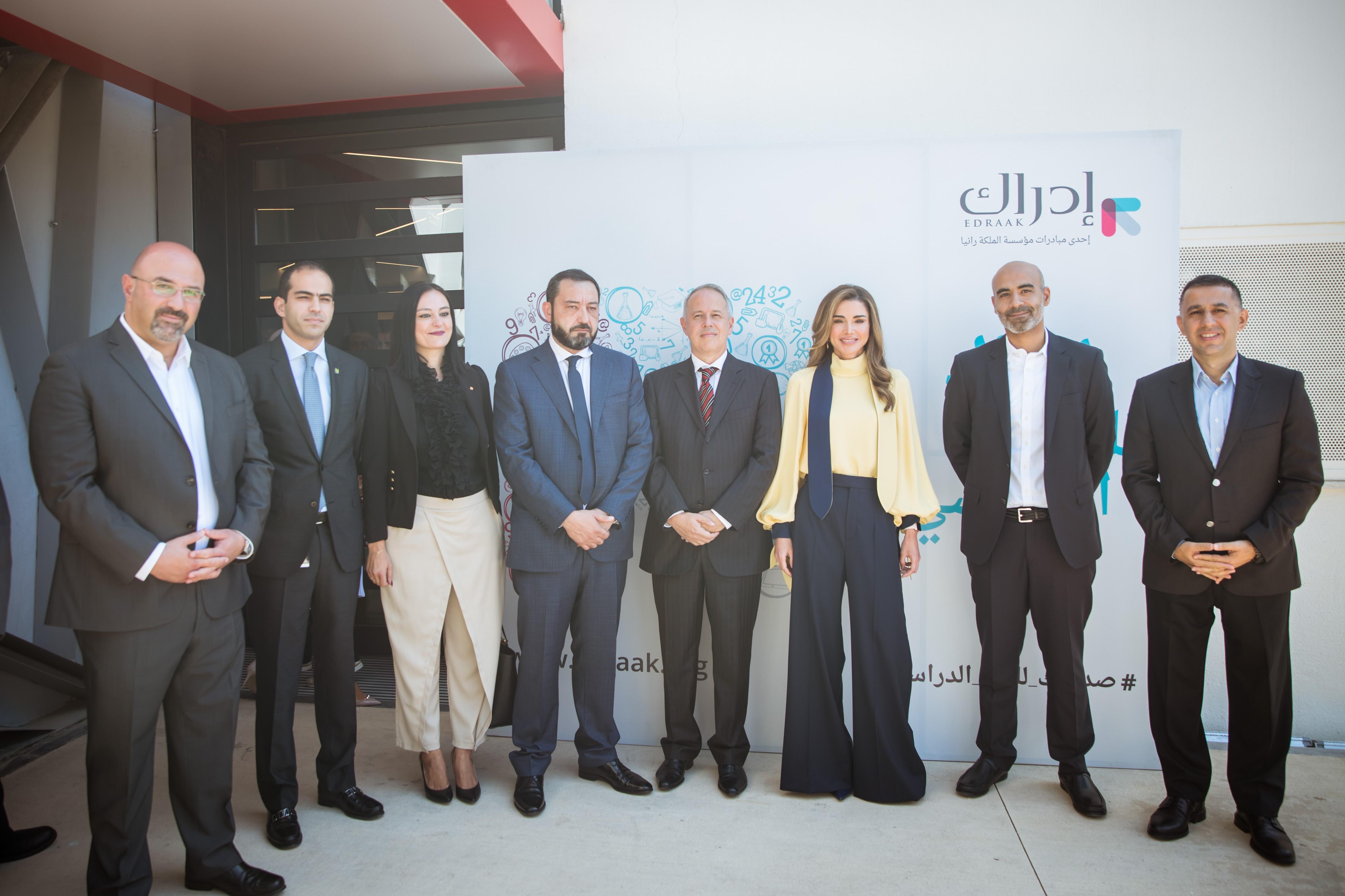 الملكة رانيا تطلق منصة تعاون جديدة بين منصة إدراك وشركات الإتصالات في الأردن