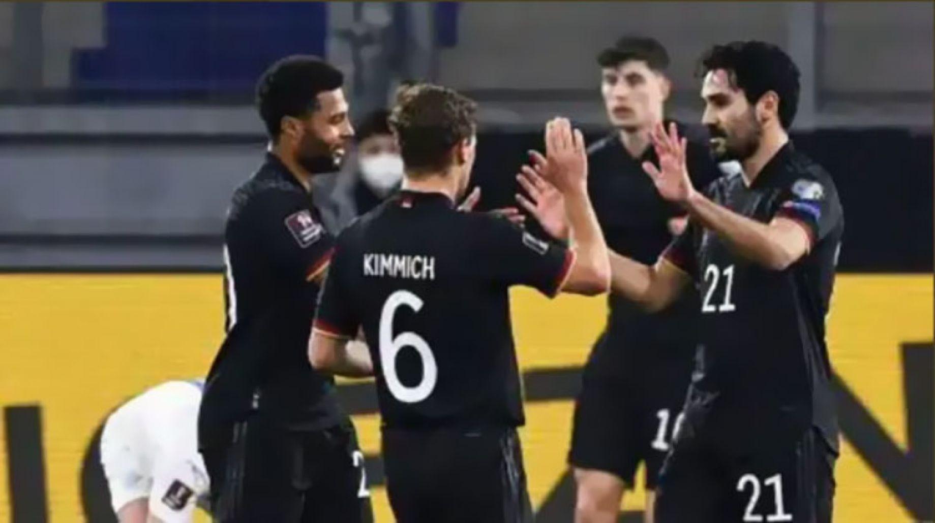 بالفيديو والصور  ..  المنتخب الألماني يحقق الفوز الثاني في تصفيات كأس العالم