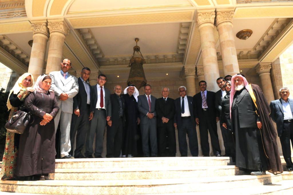 مجلس محافظة الطفيلة يلتقي رئيس الديوان الملكي