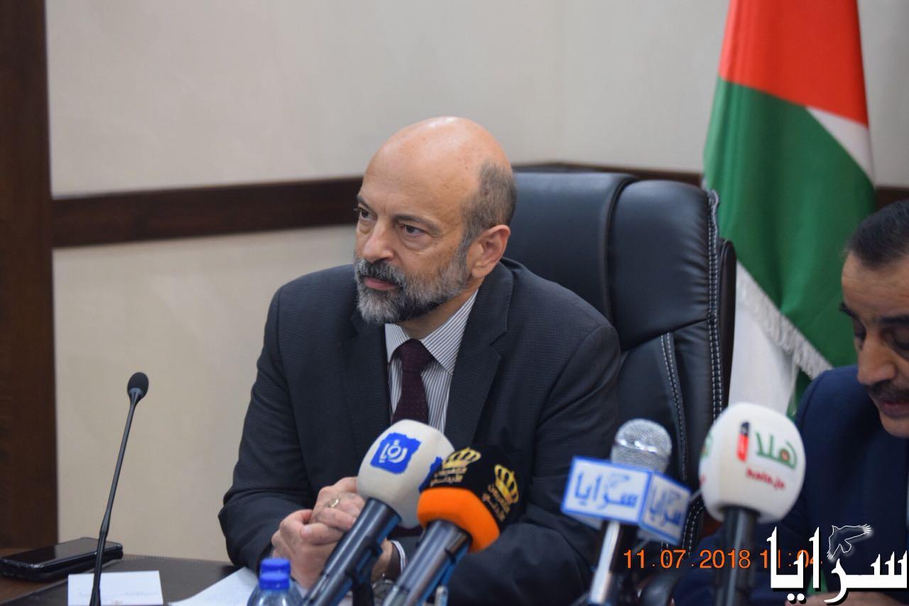 """بالصور  ..   رئيس كتلة وطن النيابية يكشف ابرز ما جاء بإجتماع """"وطن النيابية"""" مع الرزاز"""