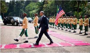 شاهد.. سجاد المساجد باستقبال أوباما يجتاح مواقع التواصل