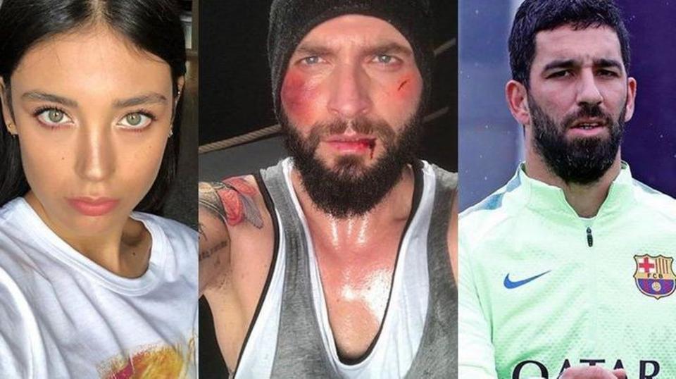 لاعب برشلونة يتحرش بتركية ويكسر أنف زوجها