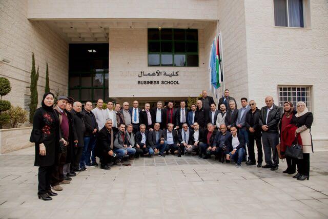 جامعة عمان الأهلية تستقبل وفداً فلسطينيا من مناطق 48