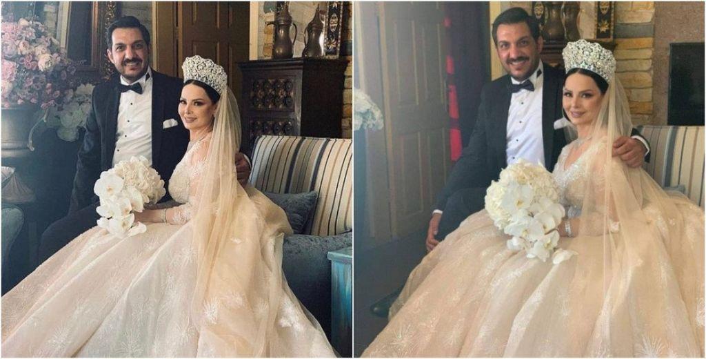 الاعلامي معاذ العمري والفنانة ديانا كرزون ..  مبارك الزفاف