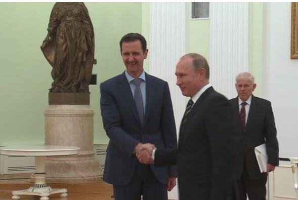 الأسد التقى بوتين في موسكو