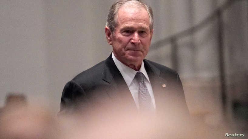 الرئيس الأميركي الأسبق جورج بوش الابن يصل لمراسم تنصيب بايدن