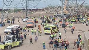 بالفيديو  ..  مقتل (4) أشخاص وإصابة (3) إثر انهيار برج كهرباء في مصر