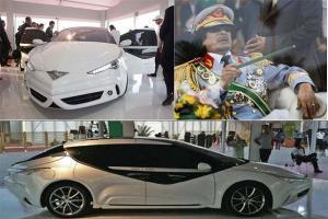"""بالصور.. تعرف على السيارة التي صممها معمر القذافي واطلق عليها اسم """" صاروخ الجماهيرية"""""""