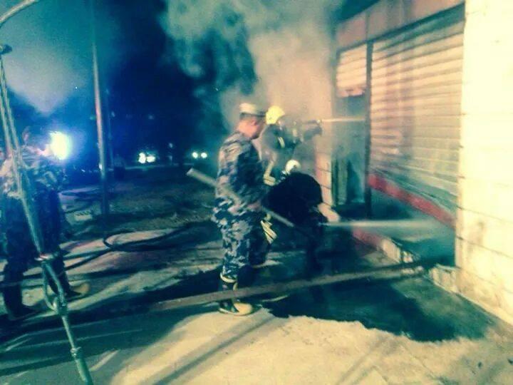 عجلون : حريق يلتهم مستودعات مشغل المنيوم في عنجرة