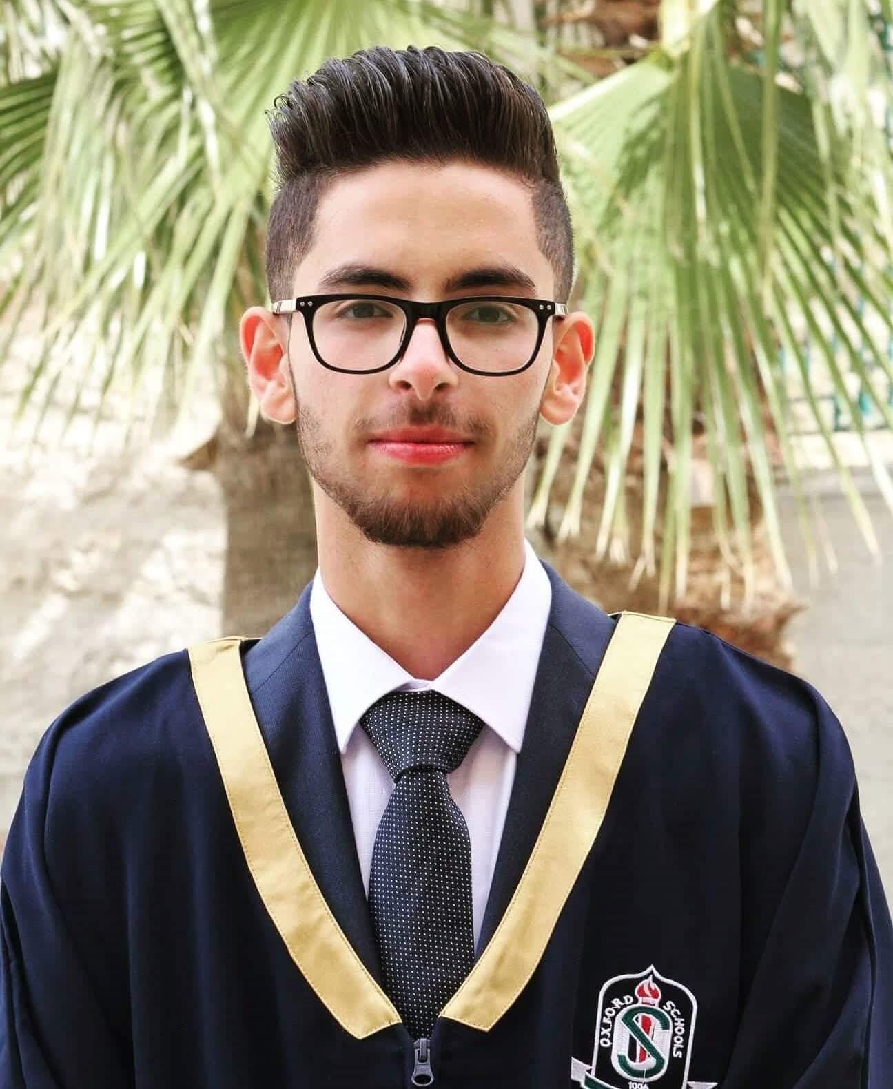 تهنئة بحصول هاشم محمد الحناقطة على معدل 95.6% بالثانوية العامة